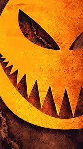 halloween pumpkin sharp teeth illustration iphone 7 hd lock screen