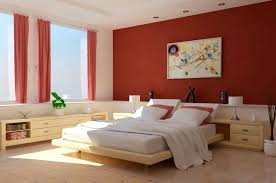 White Furniture Bedroom Ideas Pretty Bedroom Interior White Bedding Bold Red Accent Wall