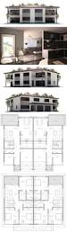 Apartment Building Blueprints by Best 25 Duplex House Plans Ideas On Pinterest Duplex House