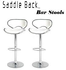 saddleback modern adjustable bar stool set of 2