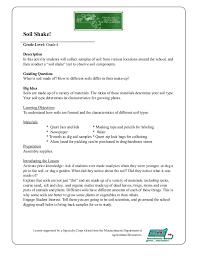 Garden Soil Types - grade 4 garden lesson plan soil shake lesson massachusetts