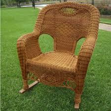 Pvc Wicker Patio Furniture - international caravan maui resin wicker outdoor rocking chair