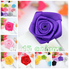 flowers for headbands aliexpress buy hot sale 14 colors ribbon mini satin