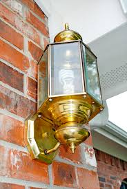Outdoor Brass Light Fixtures I Should Be Mopping The Floor Painting Brass With Rubbed