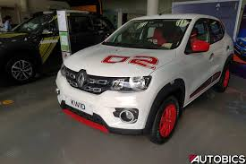 renault white renault kwid 2nd anniversary edition ice cool white front left