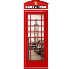 deco chambre londres sticker cabine téléphonique sticker