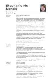 recruiter resume exles recruiter resume sle senior technical sles entire vision