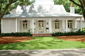 Cottage Curb Appeal - creole french style cottage curb appeal metal roof porch
