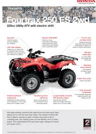 honda fourtrax 250 es trx250te atv light work atvs doble