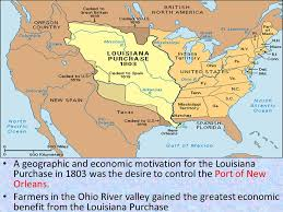 usa map louisiana purchase aim how geographic factors influenced the history of the