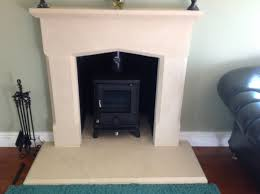stone fireplace and hearths carved from cotswold stone