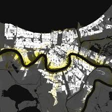 New Orleans Elevation Map by New Orleans Louisiana U2013 Elevation And Population Density 2010