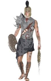 Undead Halloween Costumes Roman Warrior Men U0027s Zombie Costume Gladiator Zombie Costume