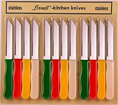 amazon com fixwell 12 piece stainless steel knives set