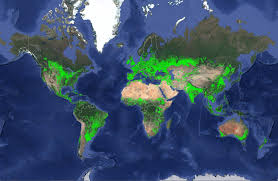 map all map showing where all the agricultural land is in the world