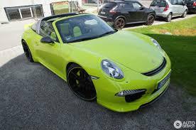 porsche targa green porsche 991 techart targa 4s 1 july 2016 autogespot
