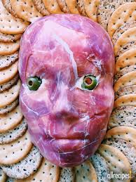 appetizer halloween how to make a creepy flayed man cheese ball for halloween