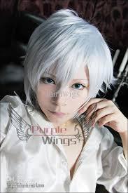 short white hair silver soul sakata gintoki gin tama cosplay short wig party hair