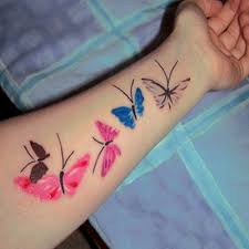 free colored butterfly tattoo designs on arm for her goluputtar com
