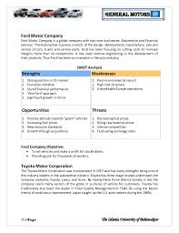 ford motor company human resources general motor strategic management analysis