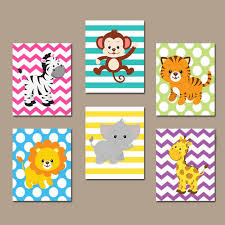 Cute Animals Cartoon Canvas Art Paintings Printable Art Wall - Canvas art for kids rooms