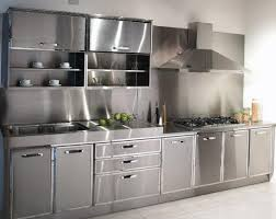 Stainless Steel Kitchens Cabinets Akiozcom - Kitchen steel cabinets