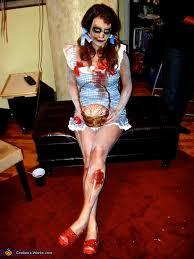 Dorothy Halloween Costume Zombie Dorothy Scarecrow Costume Photo 2 5