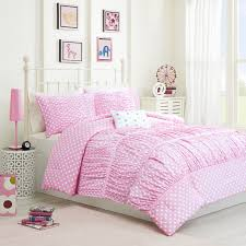 pink and purple girls bedding bedroom enchanting white ruffle comforter for bedroom decoration