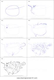 how to draw an anglerfish printable step by step drawing sheet