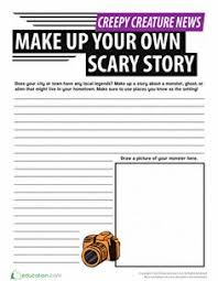 scary story card game worksheets english class and creative writing