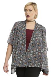 the nightmare before stained glass kimono plus size