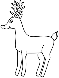 picture rudolph red nosed reindeer coloring