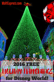 2016 free holiday happenings for disney world