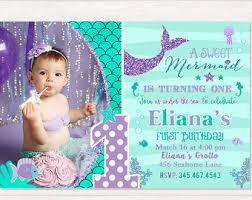 mermaid birthday invitation little mermaid invite under the