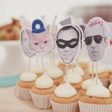 cupcake tops personalised novelty wedding cupcake toppers by happi yumi