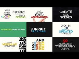 kinetic typography pack after effects template youtube