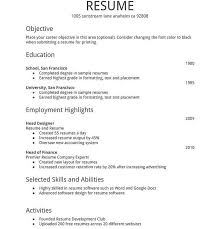 Interest Activities Resume Examples by Classy Simple Resume Examples 4 17 Best Ideas About Simple Resume