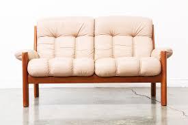 tufted leather sofa danish modern teak tufted leather sofa vintage supply store