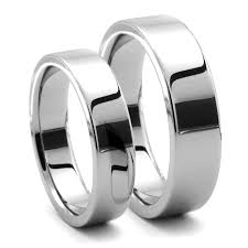 his and wedding rings piatto his hers tungsten flat bands j r yates wedding bands