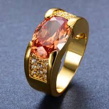men gold ring design fashion oval design men s 14kt yellow gold filled ring
