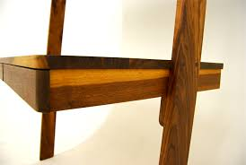 leaning shelf desk combo best home furniture decoration