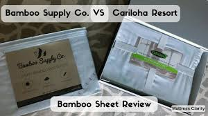 bamboo supply co vs cariloha resort bamboo sheet review youtube