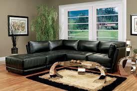 Small Leather Sectional Sofas Black Leather Sectional Sofa With Chaise For Small Living Room For