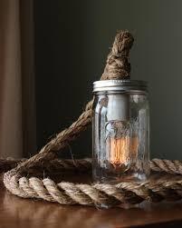 rustic ball mason jar lamp light w edison bulb barn