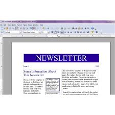 how to do a newsletter microsoft word 2007 newsletter templates