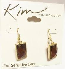 earings for sensitive ears rogers pierced earrings sensitive ears gold tone stones new ebay