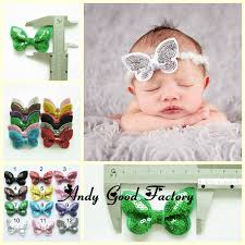 how to make headband bows 50pcs 2 4 boutique hair sequin bows diy baby headband infant