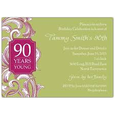 90th birthday party invitation wording cimvitation