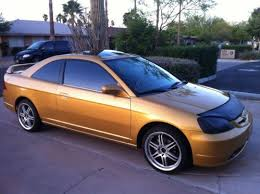 sell used 2001 honda civic ex coupe 2 door 1 7l v tech gold