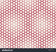 abstract geometric graphic seamless red hexagon stock vector